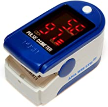 Finger Pulse Oximeter With LED Display (Includes Carrycase,