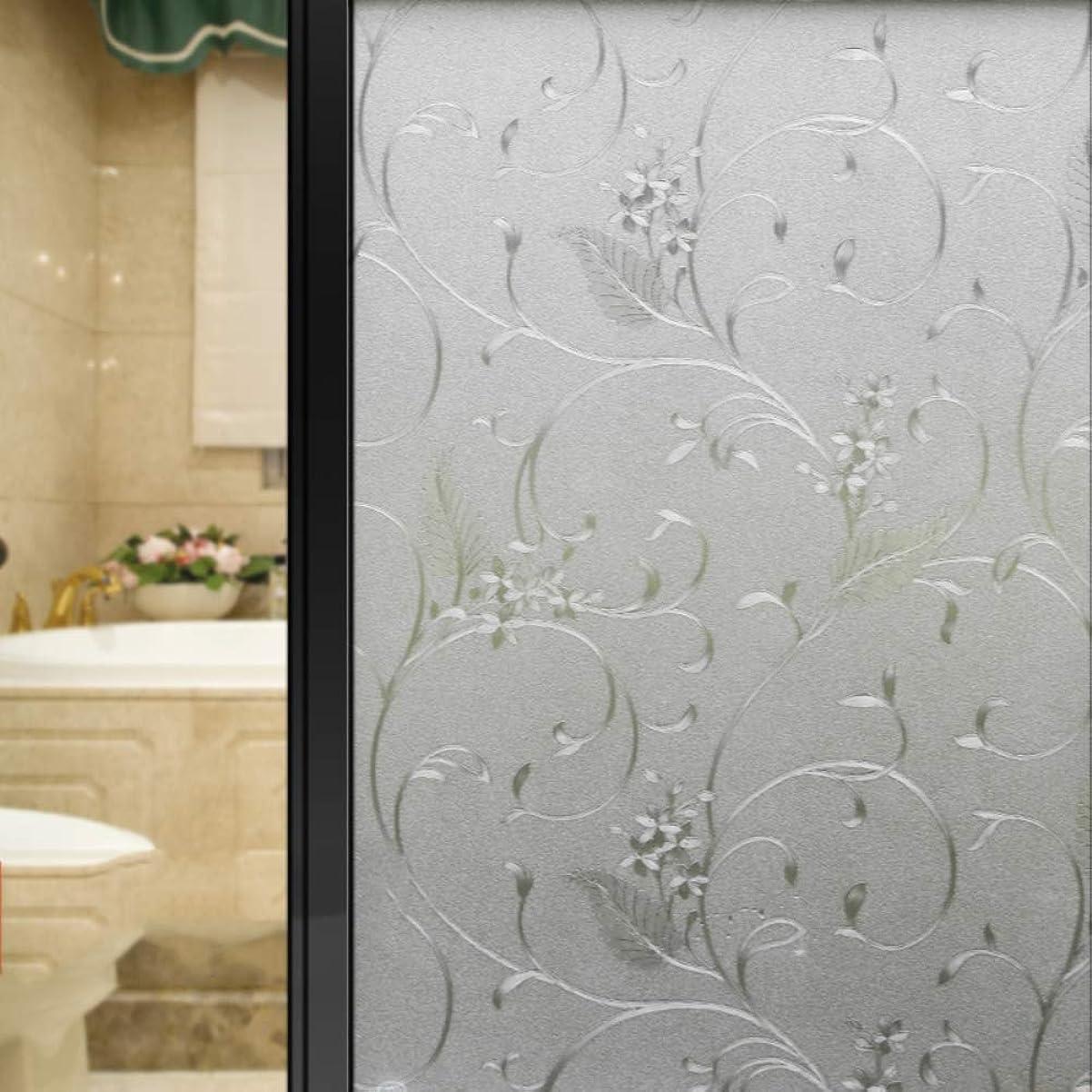 再編成するマーガレットミッチェルかすれた静的しがみつくプライバシーウィンドウフィルム、曇りのない接着剤熱制御アンチUVガラスフィルム3dウィンドウステッカーオフィス浴室-f 45x300cm(18x118inch)