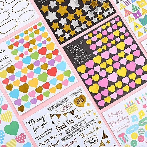 BLOUR 5 Blätter/Pack Koreanisch Niedlich Danke Aufkleber Handgemachte Stern Liebe Herz Geburtstag Briefpapier Flagge Scrapbooking Zubehör Siegel Etikett