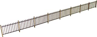 War World Scenics OO Gauge 1mm MDF Security Fence x 8 (Approx. 2.1m Long) for Railway Scale Railroad Diorama