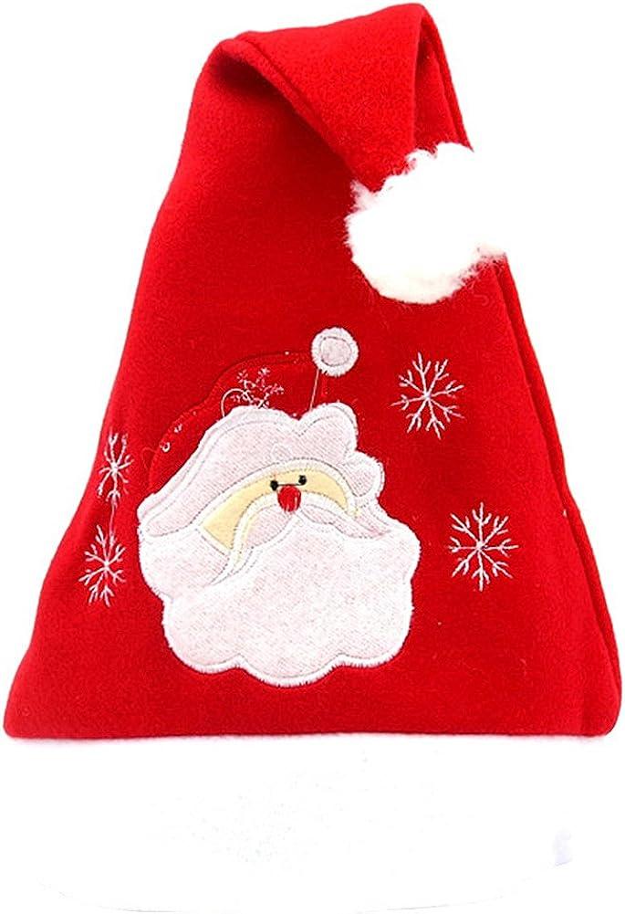 Jamron Mujer Unisexo Chicas Chicos Linda Dibujos Animados Bordado Sombreros de Santa Navidad Familia Gorros de Fiesta