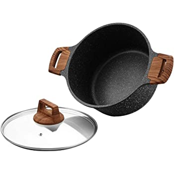 ESLITE LIFE Nonstick Soup Pot with Lid Stock Pot Induction Compatible, 5-Quart