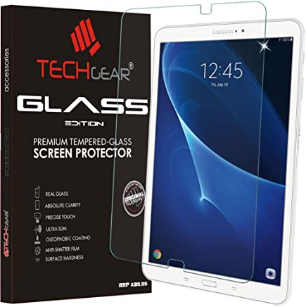 TECHGEAR GLASS Edition fits Samsung Galaxy Tab A 10.1 Inch (SM-T580 Series) - Genuine Tempered Glass Screen Protector Guard Cover