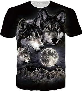 Loveternal Unisexe 3D Imprimé Décontracté T-Shirt Graphic Manche Courte