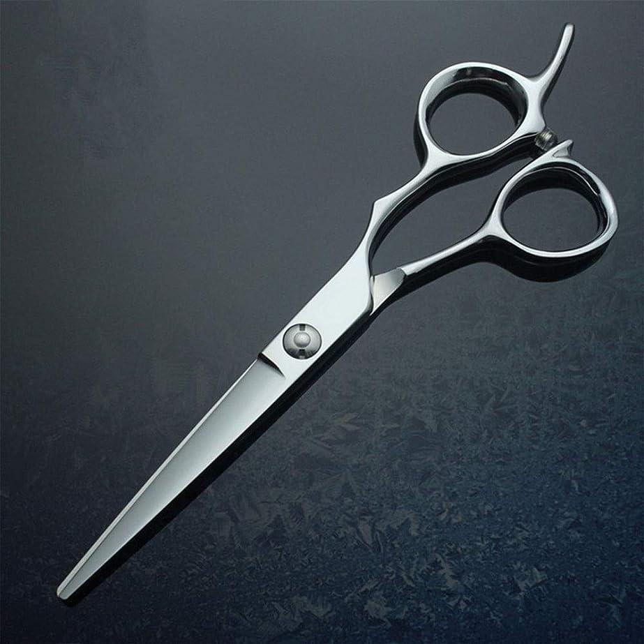 テニス奨学金散らす6インチフラットシア、440Cプロフェッショナルハイエンド理髪用ハサミ モデリングツール (色 : Silver)