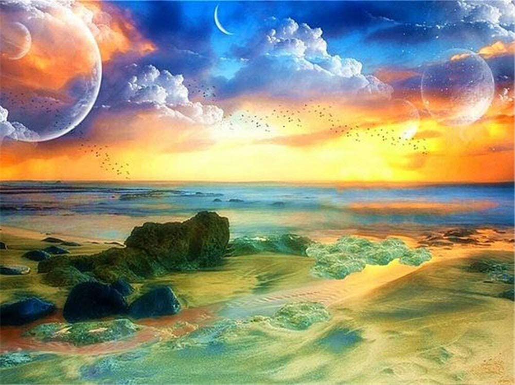 Diamond Embroidery Large DIY 5D Kits Sea Max Store 43% OFF Painting Sunset