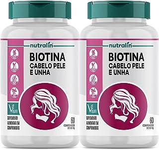 Combo 2 Biotina Fortalecimento Cabelos Unhas Pele 60 Caps Nutralin