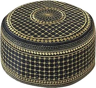 Hongma メンズ イスラム教徒 刺繍入り帽子 スカルキャップ ビーニー 祈り イスラム教 パキスタン トルコ クフィ