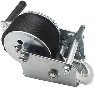 OPENROAD Strap 600lb Hand Winch Crank Gear Winch Heavy Duty Manual Winch for Trailer, Boat or ATV