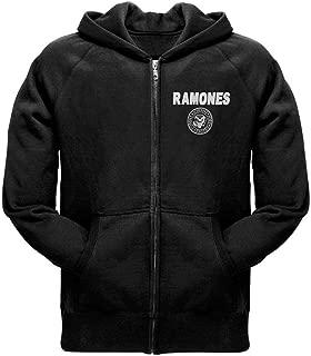 Ramones - Mens Seal Zip Hoodie Small Black