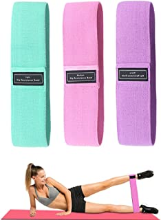 Gimiuper Resistance Loop Bands, Non Slip Exercise Bands for Legs and Butt, Workout Fitness Bands for Home Yoga Gym Strengt...