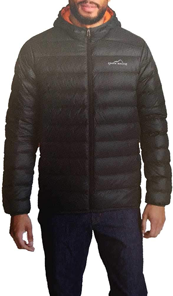 Eddie Bauer Men Cirruslite Lightweight Hooded Down Quilted Jacket