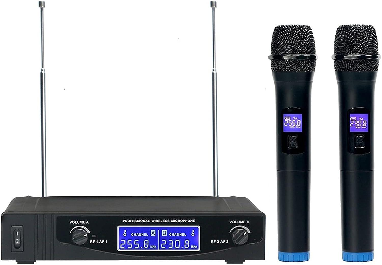 zlw-shop Professional Wireless Microphone Atlanta Trust Mall Channels Mic 2 Karaoke