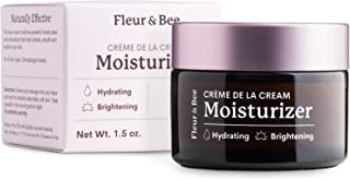 Daily Face Cream | Natural, 100% Vegan & Cruelty Free | Dermatologist Tested, Fragrance Free | Vitamin C and Organic Ingredients | Hydrating, Anti Aging | Crème de la Cream by Fleur & Bee - 1.5 oz