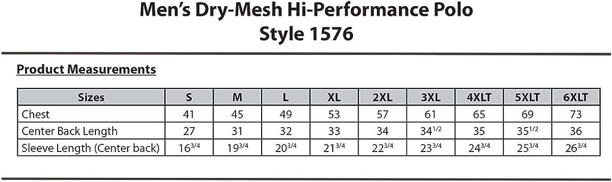 Edwards Men's Dry-Mesh Hi-Performance Polo, Black, 6XLarge