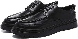 Zapatos casuales Zapatos de tela de Oxford para hombres, cordones de negocios veganos, zapatos planos de punta redonda sól...