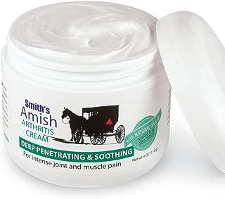 Smith's Amish Arthritis Cream (4 oz) with Botanicals of Arnica, Peppermint, Tea Tree, Rosemary and Eucalyptus