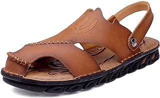 [LuckyDays-JP] メンズ サンダル ビーチサンダル カメサン フラット オフィス コンフォート 軽量 紳士用 夏 ベルト レザー 丈夫 人気 カジュアル 靴ファッション シンプル オシャレ リラックス 軽い 柔らかい カーキ