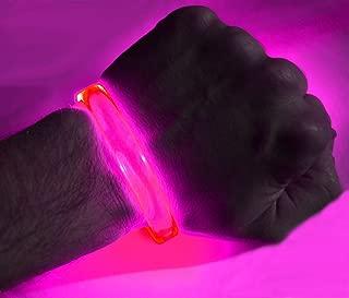 GlowCity LED Light Up Bracelets (2 Pack) (Pink)
