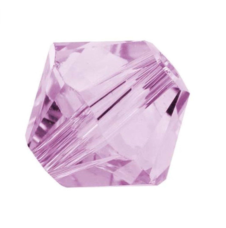 50pcs Genuine Preciosa Bicone Crystal Beads 6mm Light Amethyst Alternatives For Swarovski #5301/5328 #preb641