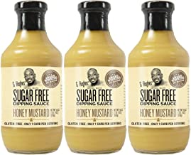 G Hughes Sugar Free Honey Mustard Dipping Sauce 18 oz (3 Pack)