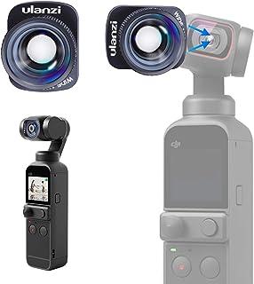 Ulanzi DJI Pocket 2 広角レンズ Osmo Pocket1広角レンズ 0.6倍 マグネット式 オスモポケット 広角コンバージョンレンズ Vlog 自撮り レンズ 撮影用 磁気 光学 軽量 アクションカメラアクセサリ