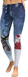 Womens Novelty Tights Stretchy Chic Ugly Print Christmas Leggings