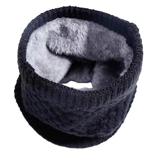 Imixcity Femme Homme Hiver Chaud Cache-col Tricot Crochet 2 Cercle Écharpe  Tube Foulard 30 49e35774c3c