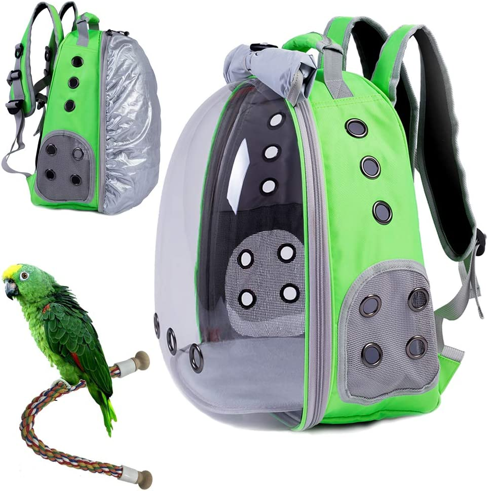 HUO ZAO Bird Carrier Cheap mail order specialty store Backpack Standing Perch New Orleans Mall with