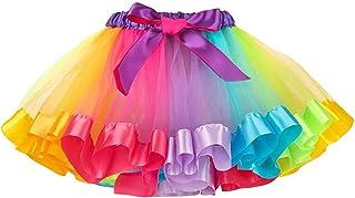 MMTX Gonna Tulle Bambina Ragazze Tutu Danza Balletto Festa Abito Arcobaleno Gonna Costume per Le Bambine di 2-5 Anni