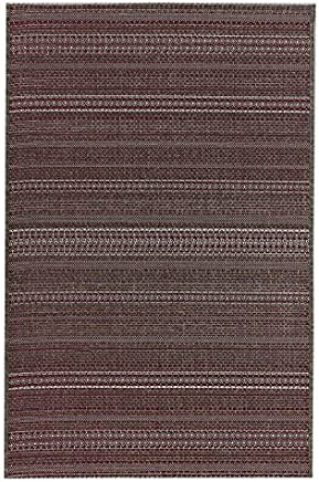 Tapete Retangular Sisal Aracaju Abstrato Niazitex 2,40mx3,20m Bordô