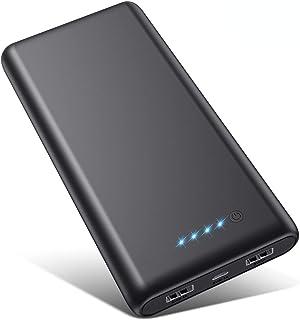 モバイルバッテリー 26800mAh 大容量 【PSE認証済 急速充電】 2USB出力ポート LED残量表示 携帯充電器 Android/iPhone/タブレット対応 ブラック