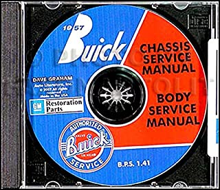 FULLY ILLUSTRATED 1957 BUICK FACTORY REPAIR SHOP & SERVICE MANUAL & FISHER BODY MANUAL CD COVERS: Series 40 Special, Series 60 Century, Series 50 Super, and Series 70 & 75 Roadmaster vehicles. 57