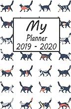 My Planner 2019 - 2020: Cat Pattern Weekly Planner 2019 - 2020: 24 Month Agenda - Calendar, Organizer, Notes, Goals & To Do Lists
