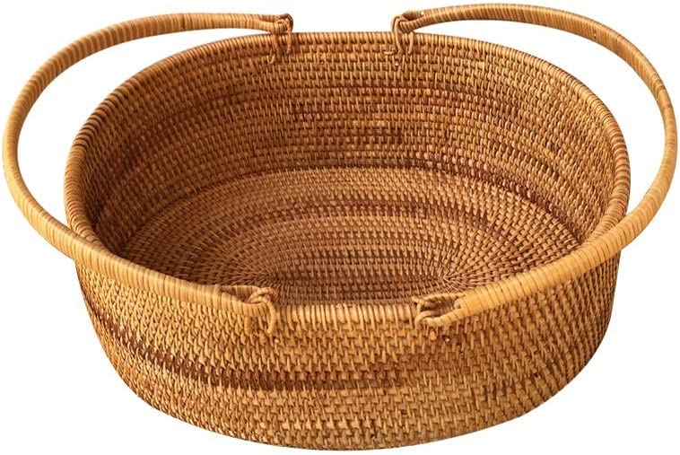 Outlet Trust ☆ Free Shipping Rattan Picnic Basket,Hand Basket,Willow Storage Weave