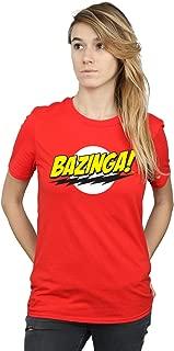 The Big Bang Theory Women's Sheldon Bazinga Boyfriend Fit T-Shirt