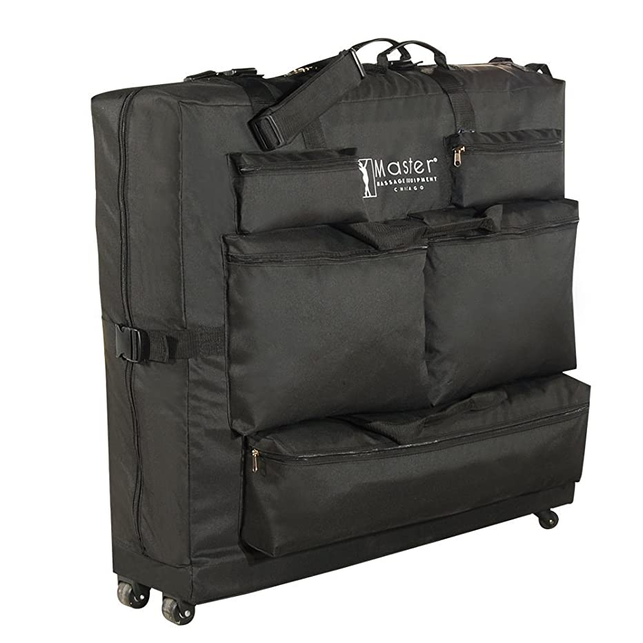 Master Massage Universal Wheeled Massage Table Carry Case,bag for Massage Table,Black.