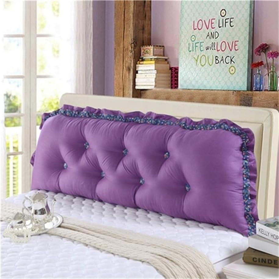 スプーン置換うっかりGLP 人格韓国子供部屋プリンセスかわいいシンプルなストリップ綿背もたれベッド枕洗える漫画枕、19色&5サイズ (Color : P, Size : 180x18x55cm)