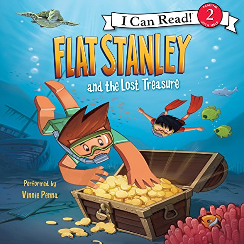 Flat Stanley and the Lost Treasure audiobook cover art