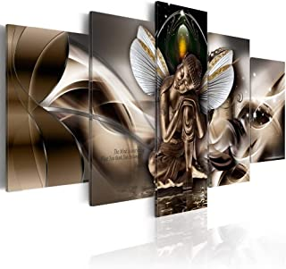 Winged Buddha Canvas Painting Modern Wall Art Print Picture (40
