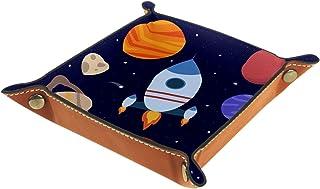 Vockgeng Planète fusée Boîte de Rangement Panier Organisateur de Bureau Plateau décoratif approprié pour Bureau à Domicile...