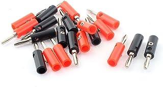 na - Cable Adaptador para Altavoces (4 mm, 10 Pares), Color Negro y Rojo