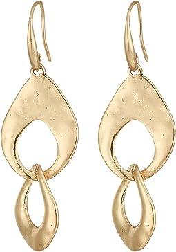 Linked Double Drop Earrings