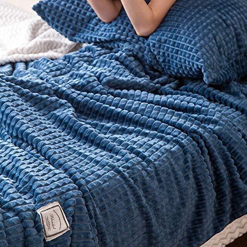 RONGXIE New Solid Color Mesh Weiche Doppelschicht Verdicken Decke Magic Velvet Coral Carpet Sofa Decke Beibei Decke Decken Bettwäsche Home Camping Bettwäsche