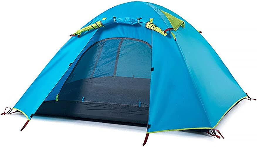 ZYN Tente extérieure en Aluminium de Double Tente de Camp de Camping de Camp de Double Couche de Tente de 3-4 Personnes Grande Tente