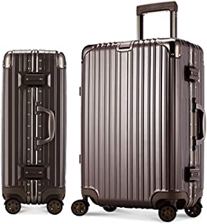 FDSjd Trolley Case Aluminum Frame Retro Suitcase Abs Universal Wheel Password Box Boarding Case (Color : Gold, Size : 20 inch)