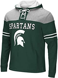 Colosseum Michigan State Spartans NCAA Power Play Pullover Hooded Men's Sweatshirt