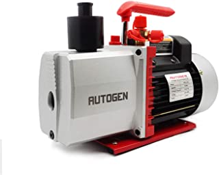 AUTOGEN 2-Stage Air Vacuum Pump 5CFM 3/4HP 0.3 Pa for HVAC/AUTO AC Refrigerant Recharging, Degassing Wine, Milking Cow, Fo...