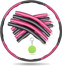 Awroutdoor Gewogen fitnesshoepel, zachte EVA-schuimgevoerde oefenhoepels voor tieners en volwassenen, oefening, dans en fi...