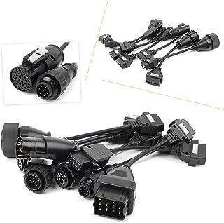 GZYF 8pcs OBD2 OBDII Truck Cables Full Set Adapter Diagnostic Tools for CDP B9